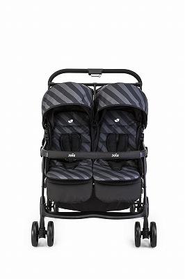 【KATOJI】Joie 2人乗りベビーカーaire twin Liquorice(リコリスブラック)エアーツイン横型ベビーカー/折りたたみ可能うれしい大容量かご/リバーシブルシート/レインカバー付き双子用ベビーカー/二人乗り/カトージ
