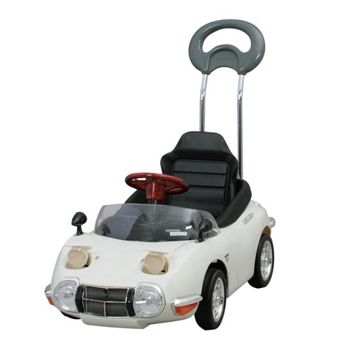 ★本州送料無料★押手付き自動車 子供用A-KIDSベビーカーの次はこれで決まり押手付ペダルカートヨタ2000GTホワイト