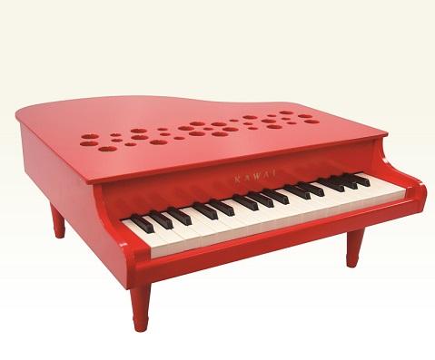 【日本製】カワイ ミニピアノ32の鍵盤アカ色/定評のある正確な音程※送料無料/プレゼント包装無料/あす楽/ピアノのおもちゃ/4本足付