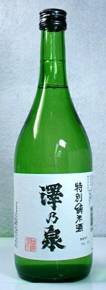【送料無料・カンガルー便限定】人気酒「澤乃泉 特別純米酒」720ml 12本セット