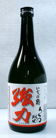 【送料無料・カンガルー便限定 鳥取の地酒】「いなば鶴 ろくまる強力 純米酒」 720ml 12本セット