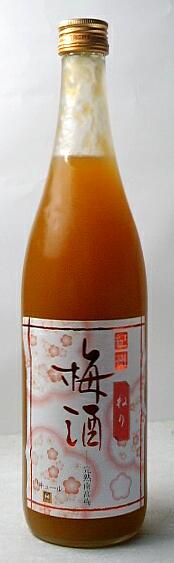 完熟南高梅をたっぷりと使い、しかも漬け込んだ梅の実をねり潰していれた濃厚な味わいの梅酒です。 紀州ねり梅酒 720ml【紀州の地酒蔵の食べる梅酒!】