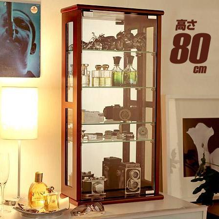 完成品 ディスプレイラック 高さ80 コレクションケース コレクションラック コレクションボード コレクション 棚 キャビネット ガラスケース ガンプラ フィギュア ガラス ガラス棚 フィギュアケース ラック 収納 モダン 北欧 おしゃれ 家具