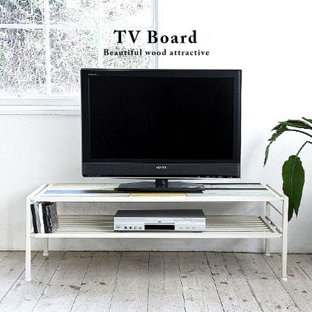 送料無料 幅120cm 木製 テレビ台ローボード ハンドメイド風 テレビボード TVボード ロータイプテレビ台 テレビラック リビング収納 ウッド アイアン製 ホワイト 白 シャビー風 ナチュラル シンプル カジュアル カントリー 北欧 アンティーク風 おしゃれ