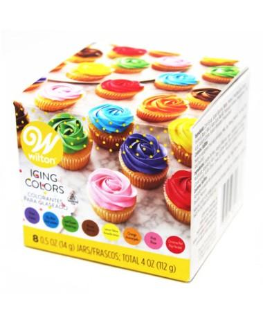 [並行輸入品] Wilton 着色料 食用 色素 お菓子作り 送料無料 返品送料無料 定形外郵便にて発送いたします ウィルトン アイシングカラーキット8色