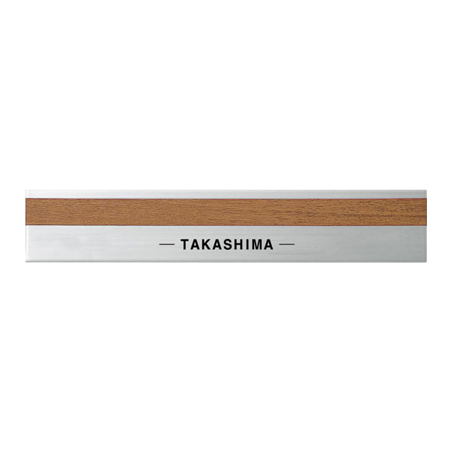 イージーオーダー 丸三タカギ 表札 モダンエッチング モダンB-2-783(黒) ステンレスヘアライン+ブラウン 幅210mm×高さ40mm
