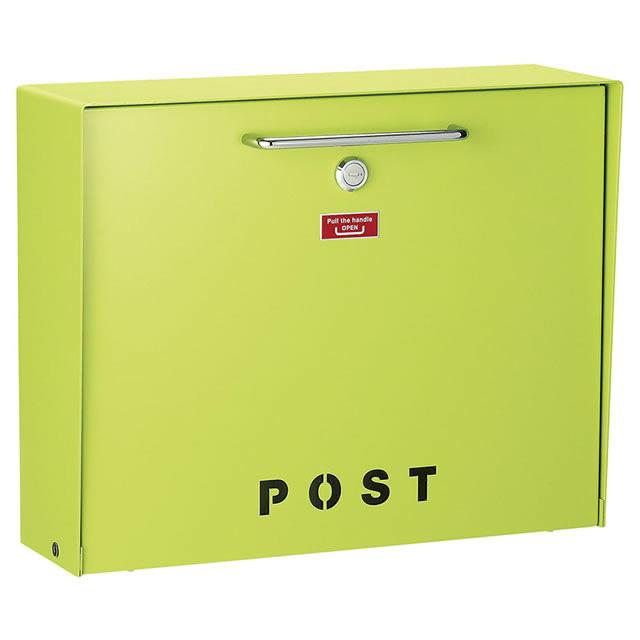 美濃クラフト 郵便ポスト Deturn デターン DETURN-PG パステルグリーン色 鍵付き