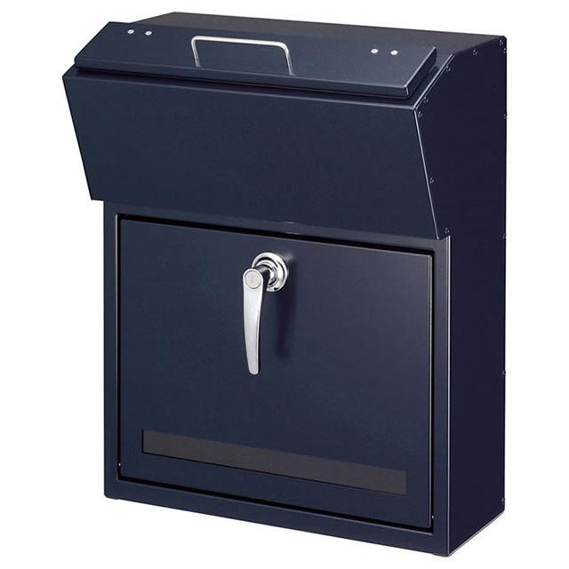 美濃クラフト 郵便ポスト DETAIL デテール EMK-DETAIL-CB シティブルー色 鍵付き
