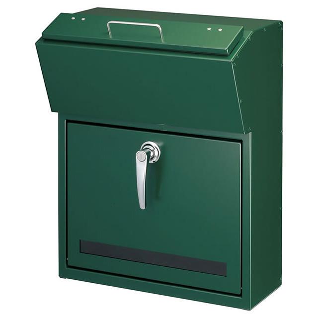 美濃クラフト 郵便ポスト DETAIL デテール EMK-DETAIL-GG ガーデングリーン色 鍵付き