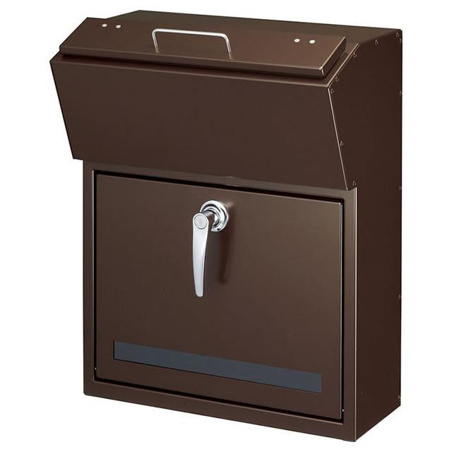 美濃クラフト 郵便ポスト DETAIL デテール EMK-DETAIL-MB メタリックNブラウン色 鍵付き