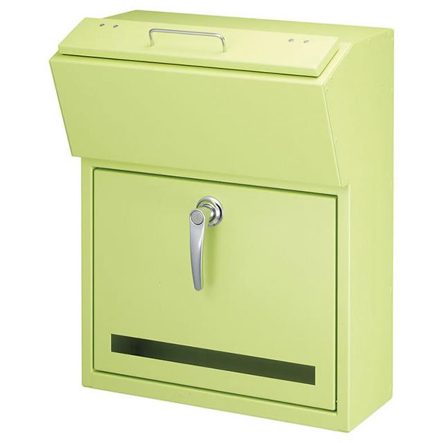 美濃クラフト 郵便ポスト DETAIL デテール EMK-DETAIL-PG パステルグリーン色 鍵付き