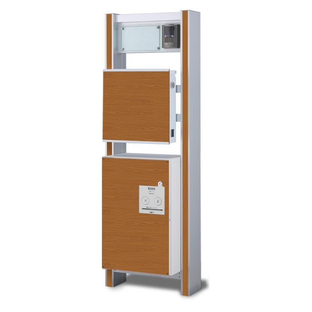 【宅配ボックス用化粧パネル付】 宅配ボックス搭載門柱 ストレーゼワイド ハーフ ETBPW-N-H-OP ※インターホンは付属していません