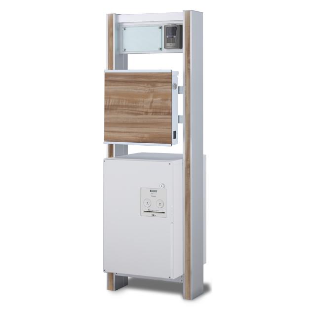 宅配ボックス搭載門柱 ストレーゼワイド ミドル ETBPW-N ※インターホンは付属していません