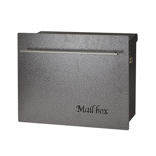 オンリーワン 郵便ポスト ノイエキューブ ハンマートーン メタリックブラック GM1-E60-602 壁掛け仕様 鍵付き