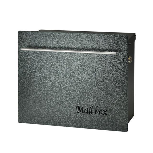 オンリーワン 郵便ポスト ノイエキューブ ハンマートーン グリーン GM1-E60-603 壁掛け仕様 鍵付き