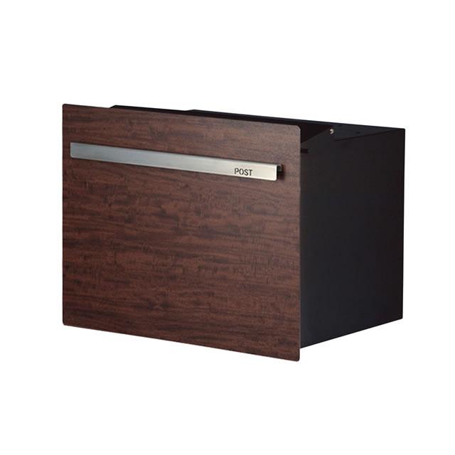 オンリーワン 郵便ポスト ノイエキューブ 木目タイプ プリマべラ GM1-E60L-503 ブロック埋め込み仕様 鍵なし