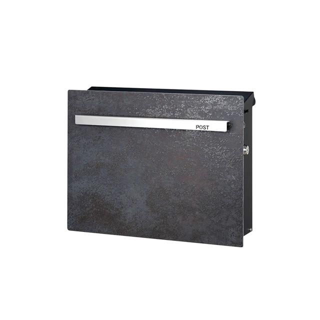 オンリーワン 郵便ポスト ノイエキューブ ラミナム GM1-EZRS 壁掛け仕様 オキサイド ネロ 鍵付き