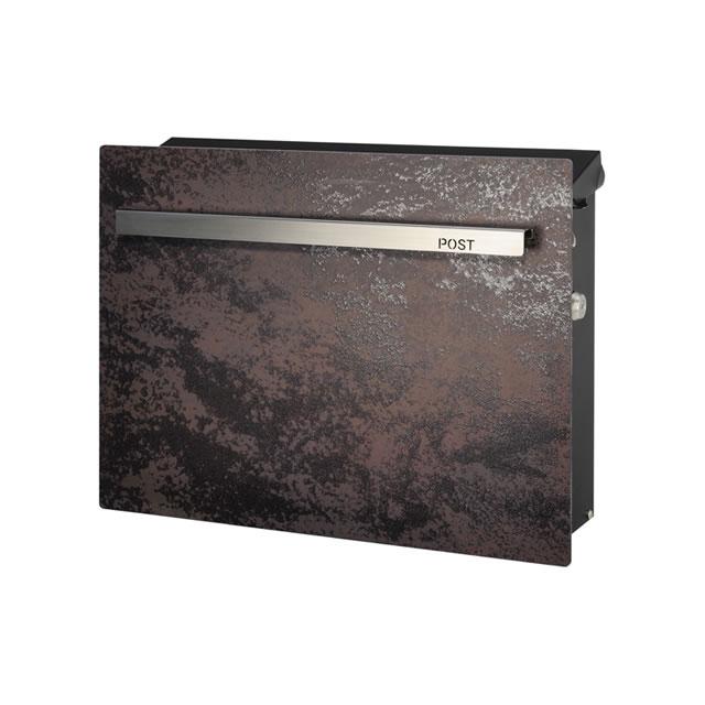 オンリーワン 郵便ポスト ノイエキューブ ラミナム GM1-E6RM 壁掛け仕様 モロ 鍵付き