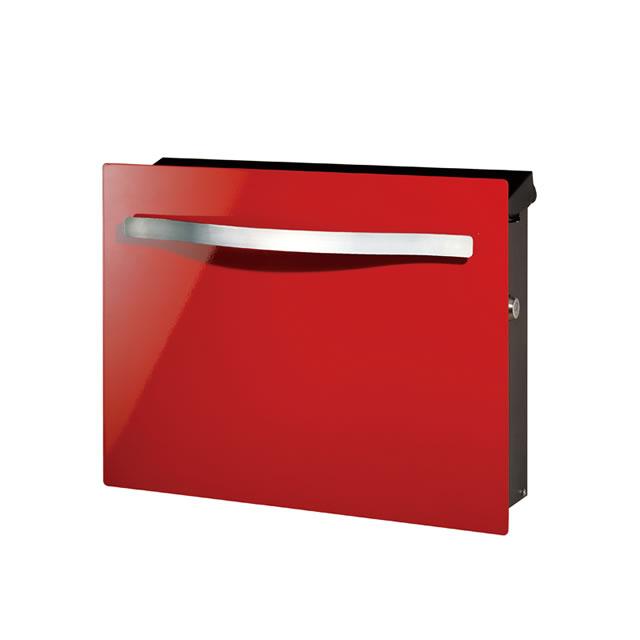 オンリーワン 郵便ポスト ノイエキューブ スパーク GM1-EZS1 壁掛け仕様 メタリックレッド色 鍵付き