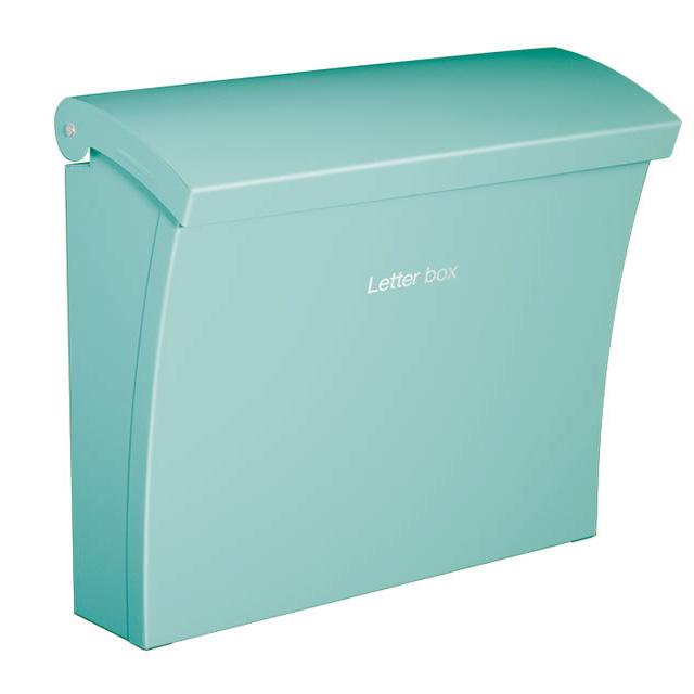 コーワソニア 郵便ポスト Luce ルーチェ ブルー色 上入れ上出し 可変式ロック付き