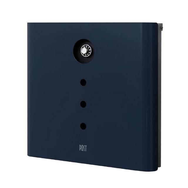 オンリーワン 郵便ポスト イル ヴァリオ Alfa アルファ NA1-IV04NB 壁掛タイプ ナイトブルー色 ダイヤル錠付き