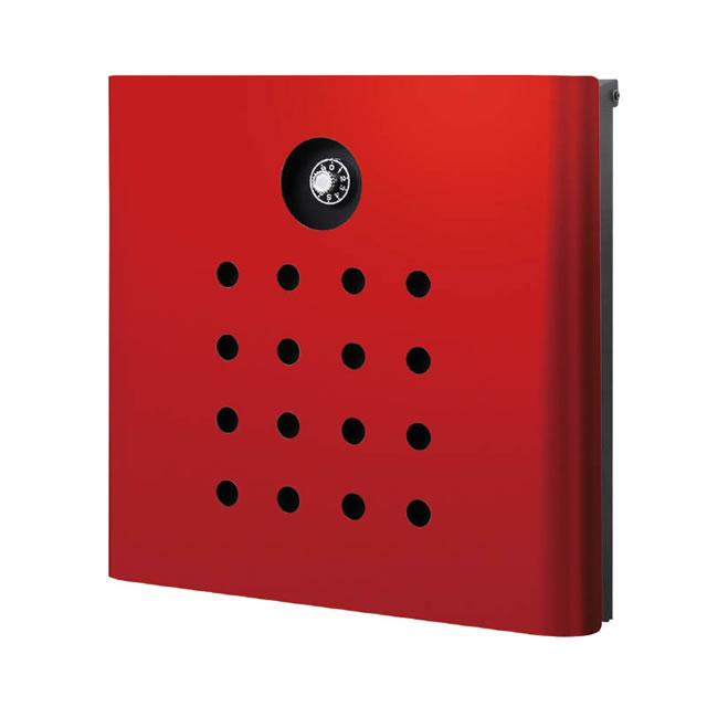 オンリーワン 郵便ポスト イル ヴァリオ Punch パンチ NA1-IV06RE 壁掛タイプ レッド色 ダイヤル錠付き