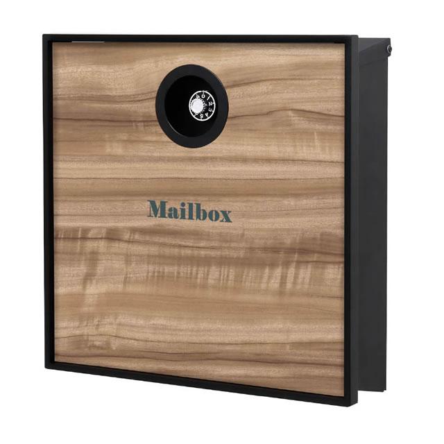 オンリーワン 郵便ポスト イル ヴァリオ グレイン NA1-IV10KS 壁掛タイプ クスノキ色 ダイヤル錠付き