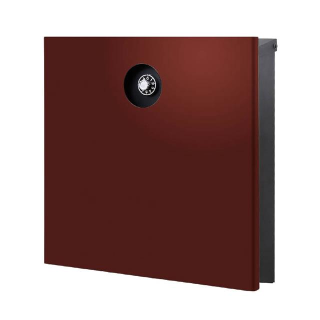 オンリーワン 郵便ポスト イル ヴァリオ Piano ピアーノ NA1-IV15DR 壁掛タイプ ダルレッド色 ダイヤル錠付き