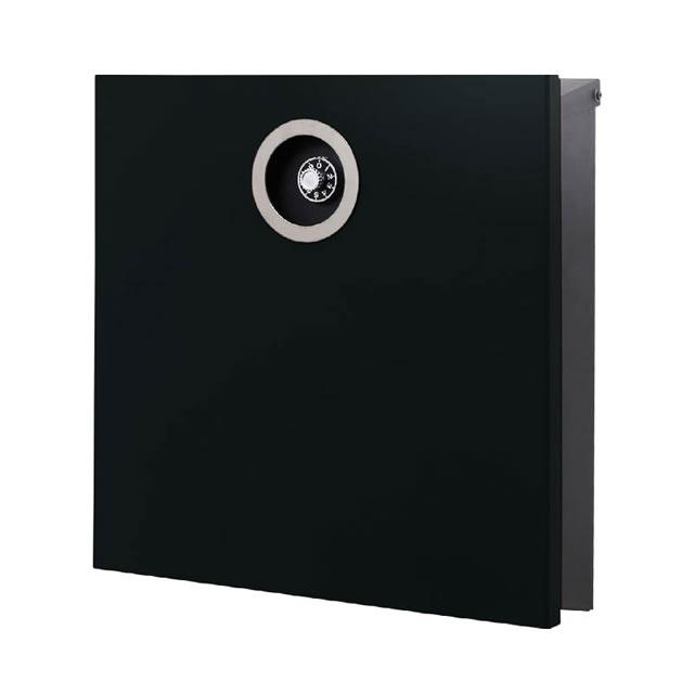 オンリーワン 郵便ポスト イル ヴァリオ ピアーノプレミオ NA1-IV16GB 壁掛タイプ グロスブラック色 ダイヤル錠付き