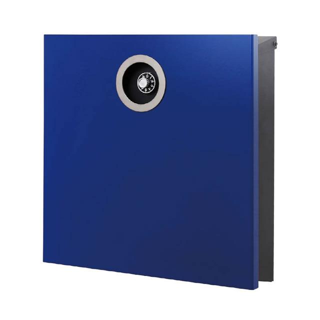 オンリーワン 郵便ポスト イル ヴァリオ ピアーノプレミオ NA1-IV16YB 壁掛タイプ ロイヤルブルー色 ダイヤル錠付き