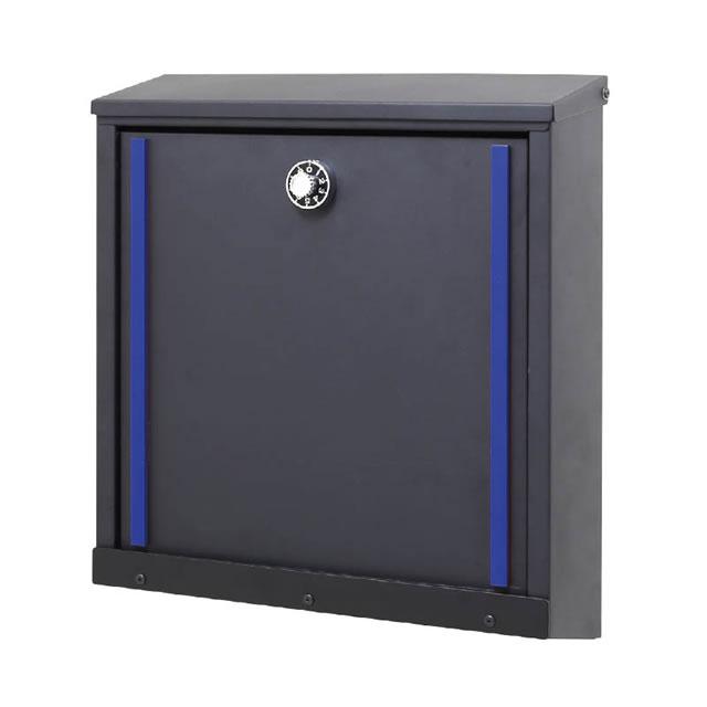 オンリーワン 郵便ポスト イル ヴァリオ Verch ヴァーチ NA1-IV24YB 壁掛タイプ ロイヤルブルー色 ダイヤル錠付き