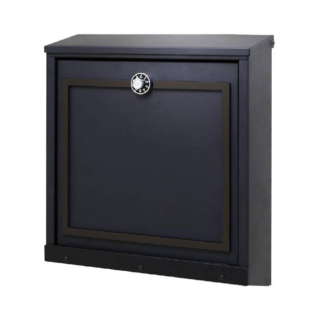 オンリーワン 郵便ポスト イル ヴァリオ Piazza ピアッツァ NA1-IV26CG 壁掛タイプ チャコールグレー色 ダイヤル錠付き