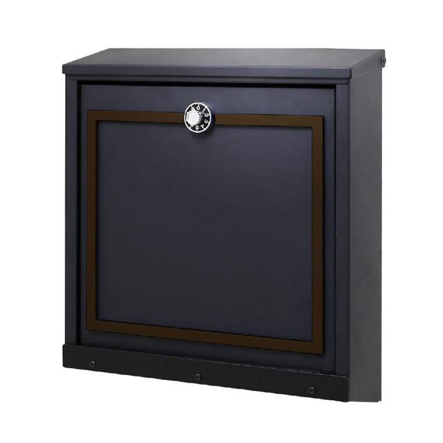 オンリーワン 郵便ポスト イル ヴァリオ Piazza ピアッツァ NA1-IV26DM 壁掛タイプ ダークブラウンマット色 ダイヤル錠付き