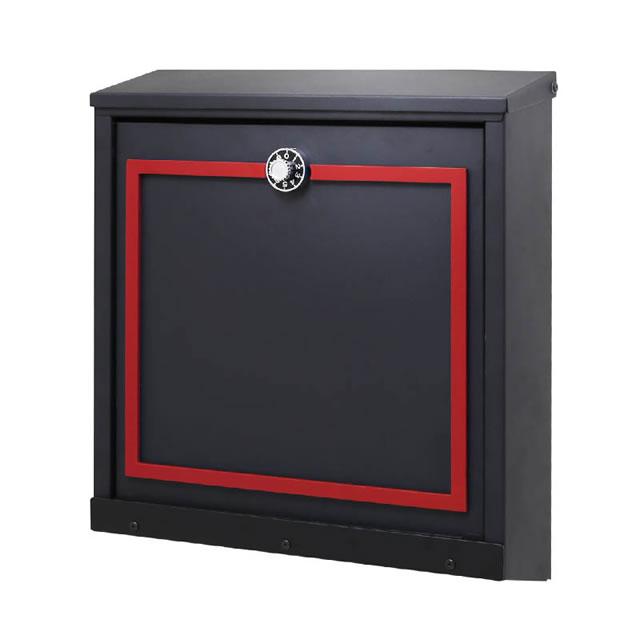 オンリーワン 郵便ポスト イル ヴァリオ Piazza ピアッツァ NA1-IV26RE 壁掛タイプ レッド色 ダイヤル錠付き