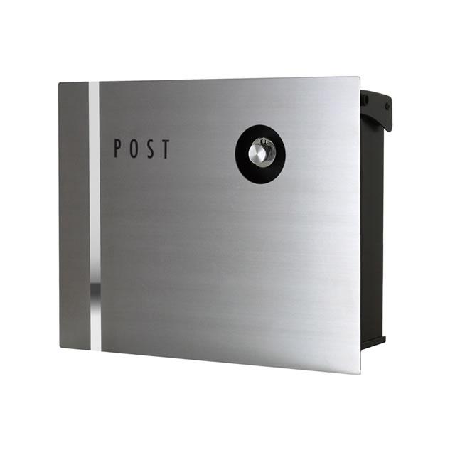オンリーワン 郵便ポスト パーサス ネオ Type09 ステンレス NA1-PA09SZ 壁掛タイプ ダイヤル錠付き