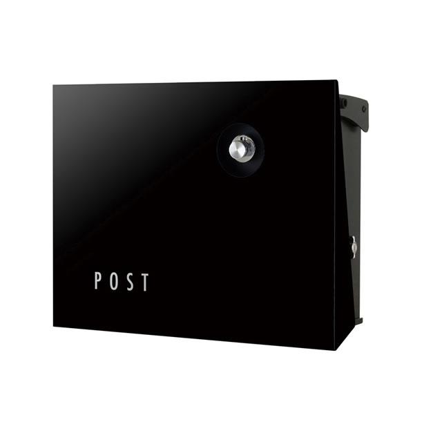 オンリーワン 郵便ポスト パーサス ネオ Type12 PLAIN プレーン NA1-PA12GB 壁掛タイプ グロスブラック色 ダイヤル錠付き