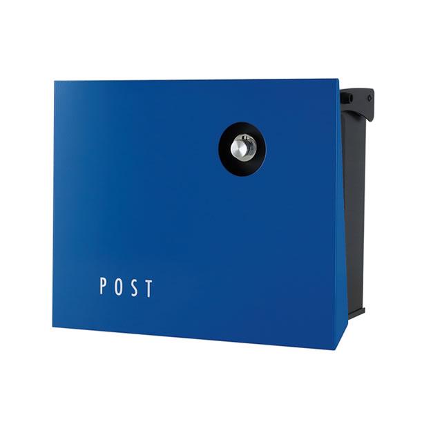 オンリーワン 郵便ポスト パーサス ネオ Type12 PLAIN プレーン NA1-PA12YB 壁掛タイプ ロイヤルブルー色 ダイヤル錠付き