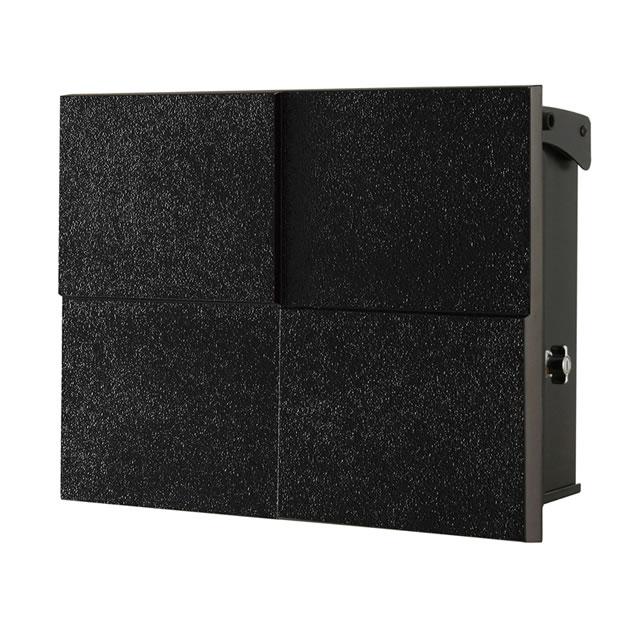 オンリーワン 郵便ポスト パーサス ネオ DECO デコ NA1-PT07FK 壁掛タイプ フロストブラック色 鍵付き