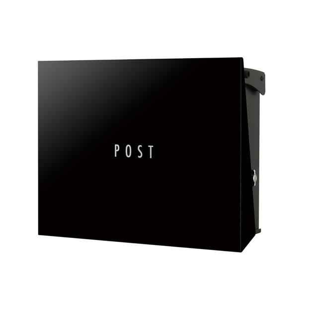 オンリーワン 郵便ポスト パーサス ネオ Type12 PLAIN プレーン NA1-PT12GB 壁掛タイプ グロスブラック色 T型カムロック付き