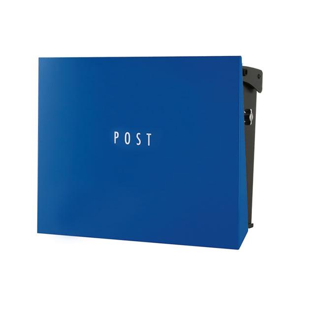 オンリーワン 郵便ポスト パーサス ネオ Type12 PLAIN プレーン NA1-PT12YB 壁掛タイプ ロイヤルブルー色 T型カムロック付き