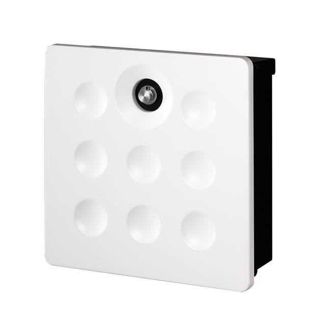 オンリーワン 郵便ポスト バリオ ネオ Dimple ディンプル NA1-VA08WH ホワイト色 ダイヤル錠付き