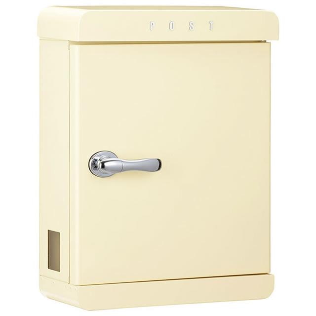 美濃クラフト 郵便ポスト PAST パスト PAST-PC パステルクリーム色 鍵付き