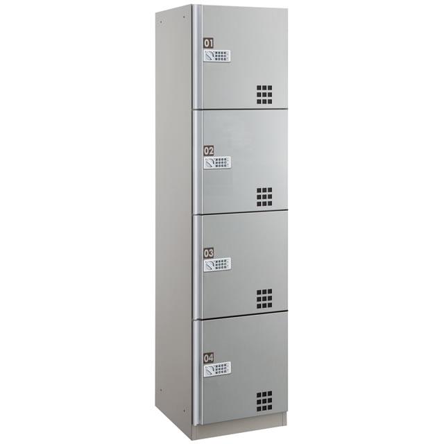 ダイケン 宅配ボックスBD4型 プッシュボタン錠タイプ(可変式) ステンレス貼り扉 TBX-BD4S Sユニット