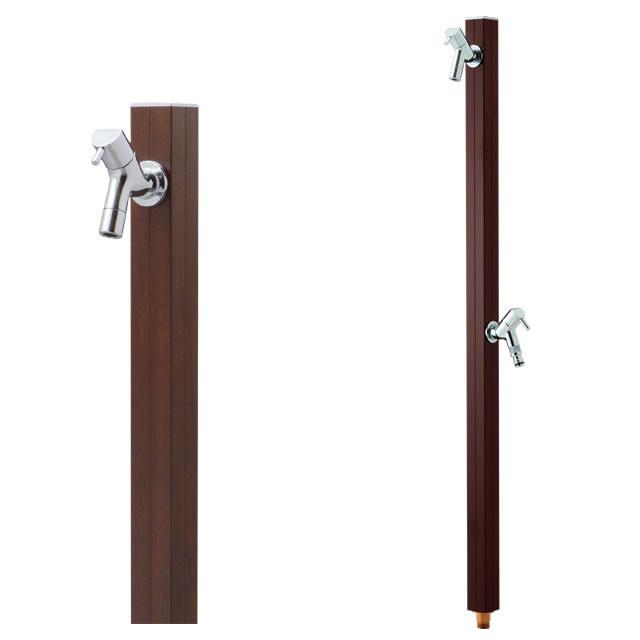 オンリーワン 水栓柱 アクアルージュW TK3-SKWDP ダークパイン色 ナチュラルな木目調