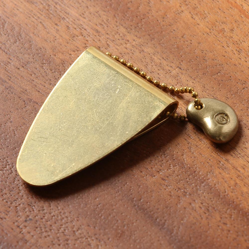 スーパーセール期間限定 経年変化する真鍮を育てる楽しみ No.1 マネークリップ KMC-001-B 定番スタイル 真鍮 送料無料 ミニ財布 金色 上白石金具製造