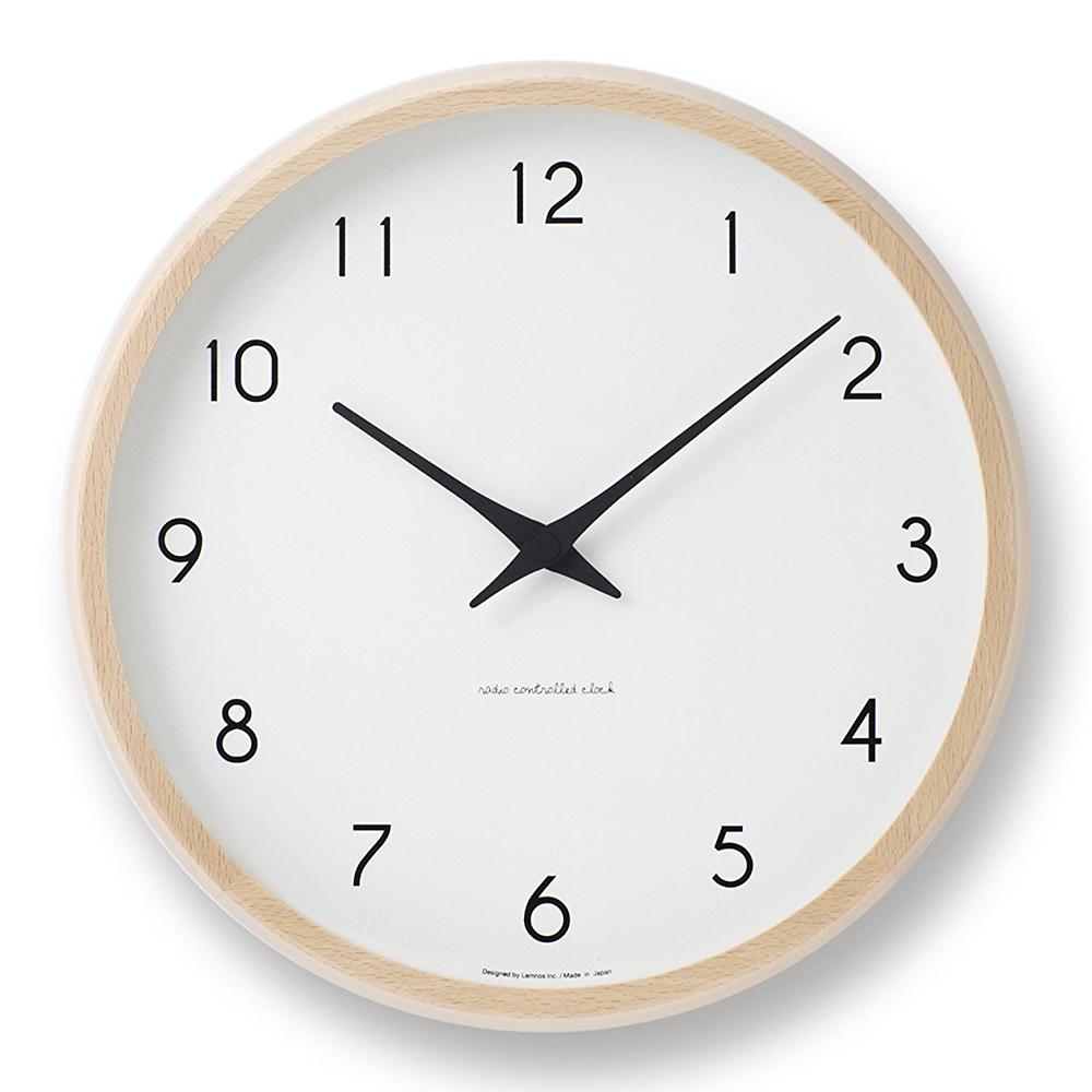 掛け時計 カンパーニュ ナチュラル PC10-24W NT Campagne アナログ時計 シンプル時計 おしゃれ リビング用 寝室用 壁掛け時計(タカタレムノス)