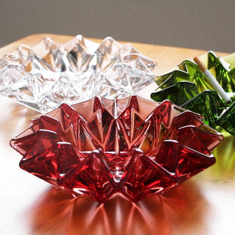 美しさと重厚感がインテリアを引き立てます 灰皿 新発売 ガラス 北壁 廣田硝子 アッシュトレイ 大 引出物 大きい