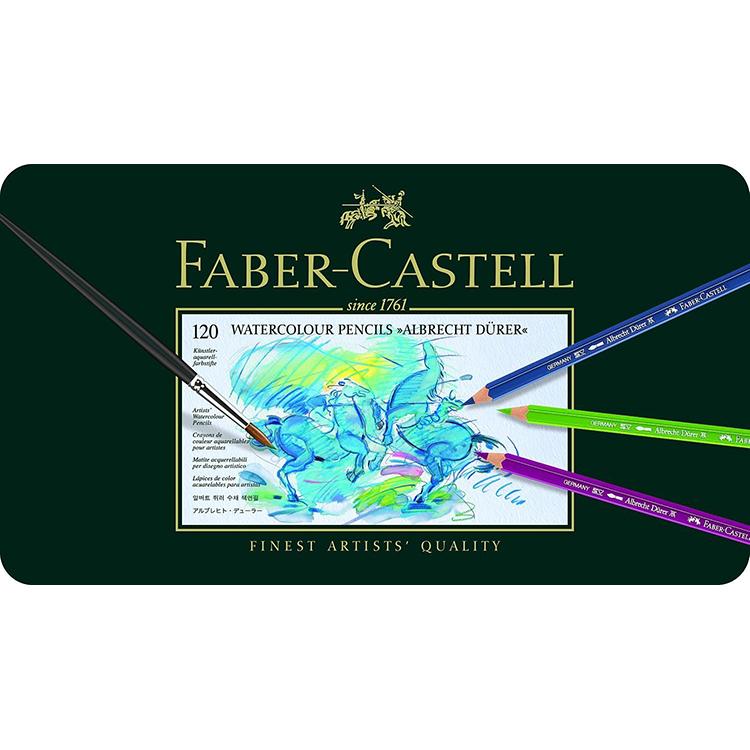 【FABER-CASTELL】アルブレヒト デューラー水彩色鉛筆セット120色缶入