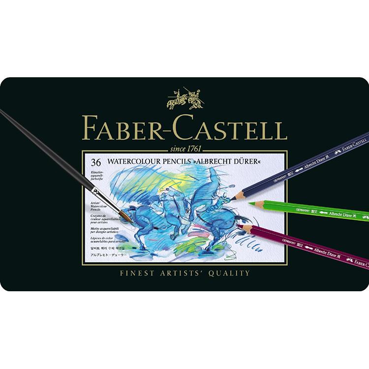 【FABER-CASTELL】アルブレヒト デューラー水彩色鉛筆セット36色缶入 8203