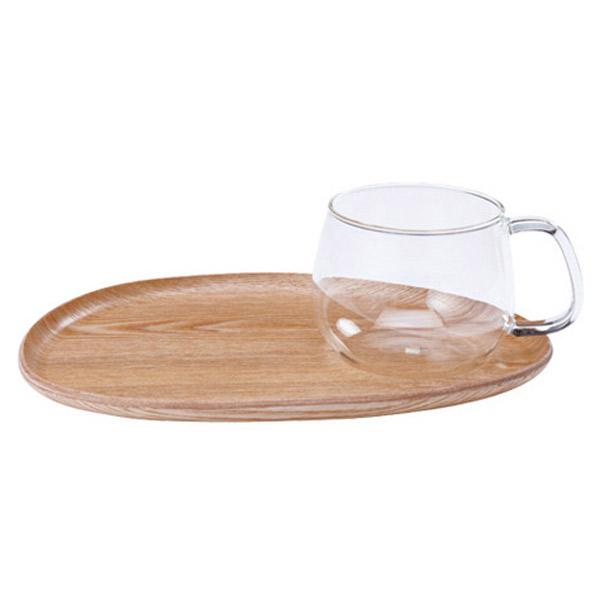 和風にも洋風にも合わせやすいデザイン ランチプレート カップ ストア カフェランチセット キントー フィーカ お買い得 KINTO ガラス